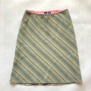 Gap Green 60% Recycled A-line Wool Skirt size 4